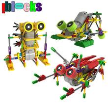 """IBLOCKS Сборка """"сделай сам"""" для творчества, электрические модели роботов и сборные игрушки для детских хобби, развивающие сборные блоки для мальчиков(China (Mainland))"""