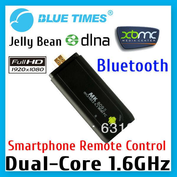 Bluetimes MK809 II Dual Core Bluetooth Android 4.1 Mini PC Dongle Stick Smart TV Box XBMC Media Player RK3066 Free Shipping(China (Mainland))