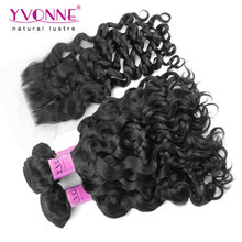 Buy 3 Bundles Italian Curly Peruvian Virgin Hair With Closure,Top Quality YVONNE Human Hair Weave,Natural Color 1B for $172.40 in AliExpress store