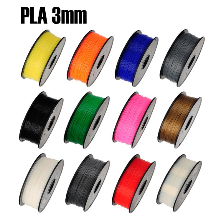 PLA 3mm 1Kg spool Plastic Rod Rubber Ribbon Consumables Material Refills for MakerBot RepRap UP Mendel