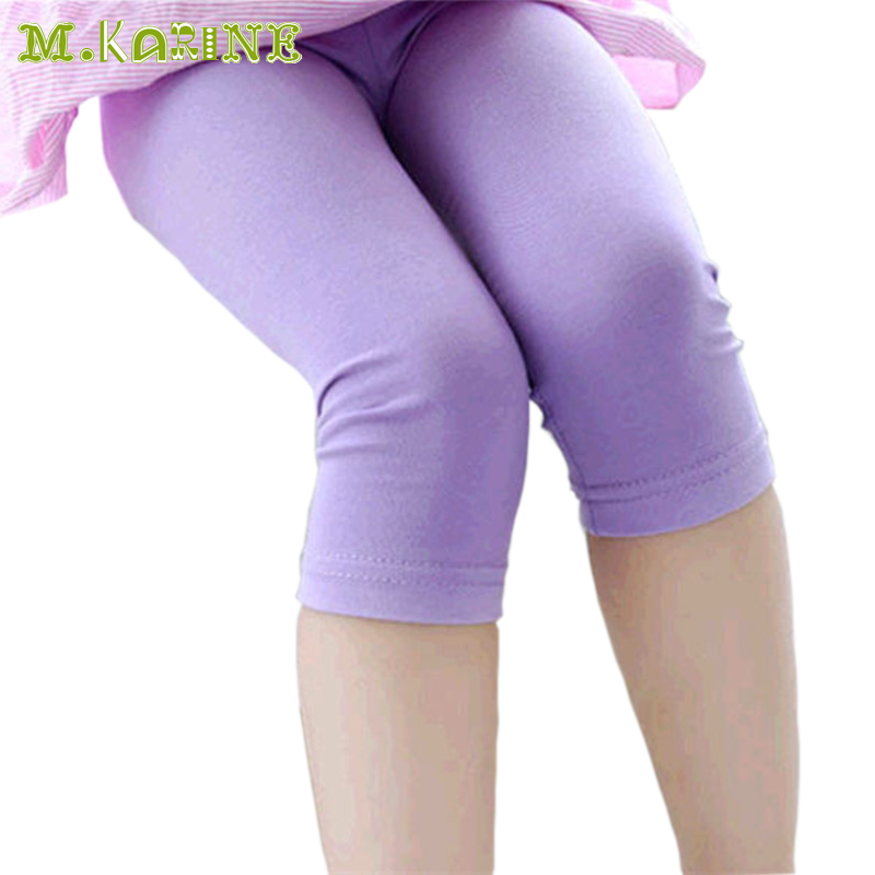 On Sale Hot Modal Candy Color Seven Girls Leggings Summer Baby Kids Colorful Leggin Toddler Solid Cotton Pants Wholesale &Retail(China (Mainland))