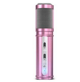 Free shipping Microphone, receiver, karaoke, metal appearance, high-end atmosphere, wind noise, restore pure tone(China (Mainland))