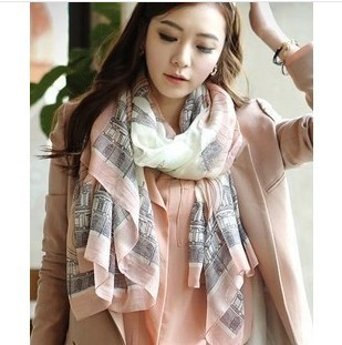 W013 Christmas Gifts The New Autumn And Winter Long Section Of The Eiffel Tower Warm Scarf Fashion scarf Shawl