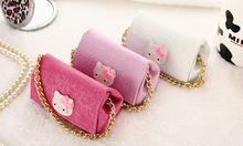 2016 5400MAH Hello Kitty Power Bank Smart PU bag Equiped With Power Bank For Apple iPhone6 6s xiaomi mi5