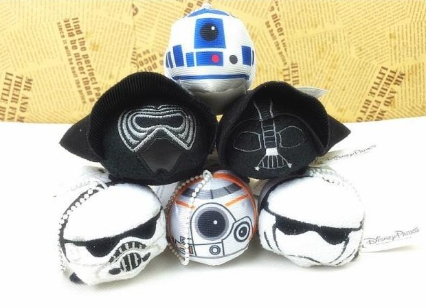 6pcs 3.5'' Mini Tsum Tsum Star Wars Plush Toy Screen Cleaner for iPhone(China (Mainland))