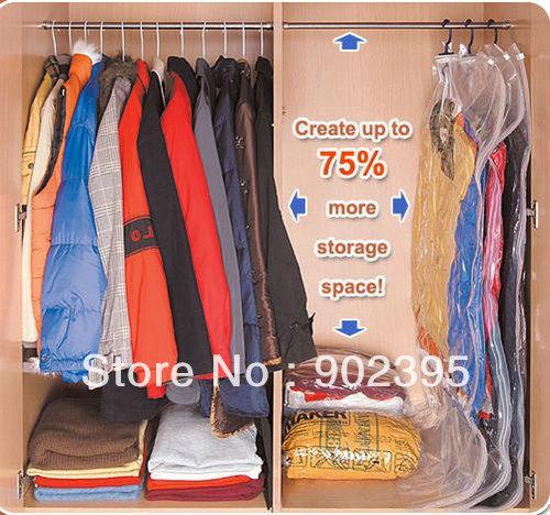 Free shipping 105*70 5pcs/lot Home using Hanging vacuum seal compressed space saving storage bag with hanger(China (Mainland))