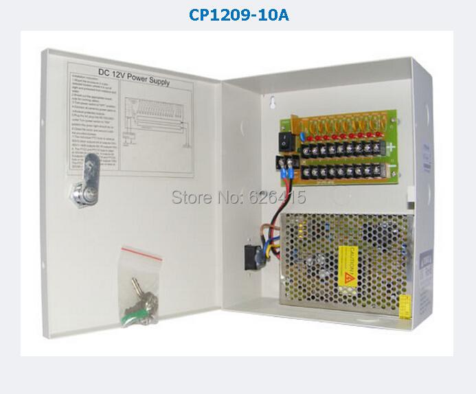 CCTV Camera  Power Supply BOX CCTV 9CH 12V 10A AC 100-240V