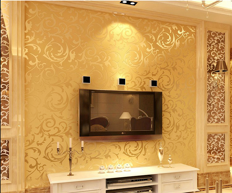 Fashion European Style Pvc Wallpaper Wall Paper Rolls