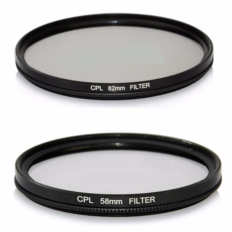 52/55/58/62/67/72/77/82mm CPL Circular Polarizer Polarizing Glass Filter for Nikon for Canon For Sony DSLR Digital Camera Lens(China (Mainland))