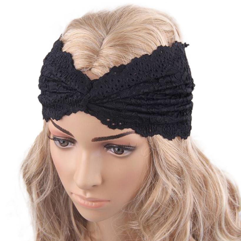 Amazing Fashion Women Headwear Twist Sport Yoga Lace Headband Turban Headscarf Wrap(China (Mainland))
