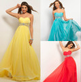 Free shipping 2015 New est chiffon high quality Chic design Prom dress three colors in stock