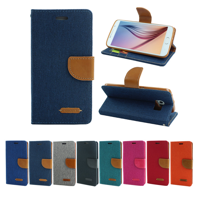Canvas Flip Leather Cover For Samsung Galaxy J5 J7 2016 Jean Case Wallet For Samsung A3 A5 A7 2016 Phone Cover Cases Bags(China (Mainland))