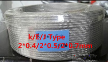 20M K Type Shield THERMO-COUPLE WIRE Thermocouple Wire 2*0.5mm Compensating Conductors Outer Skin is Stainless Steel for Sensor(China (Mainland))