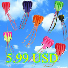 New Hi-Q Hotsell 4 m Octopus Single Line Stunt  /Software  Power Kite With  Flying Tools Inflatable And Easy To Fly Whole Sale  (China (Mainland))