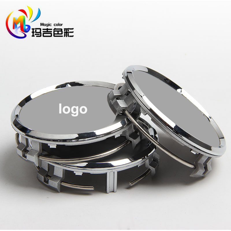 4 pcs Wheel center hub caps fit for Mercedes benz emblem black silver ABS Chrome logo 75mm(China (Mainland))