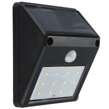 2016 New Style Best Promotion 12 LED Solar Powered Wireless PIR Motion Sensor Light Outdoor Garden Security Wall Lamp(China (Mainland))