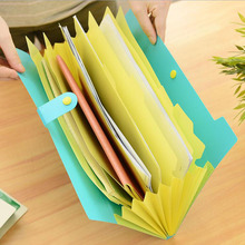 The New Book Waterproof Bags A4 Paper Folder Document Folding Design Color Random Rectangle Office Homeschooling(China (Mainland))