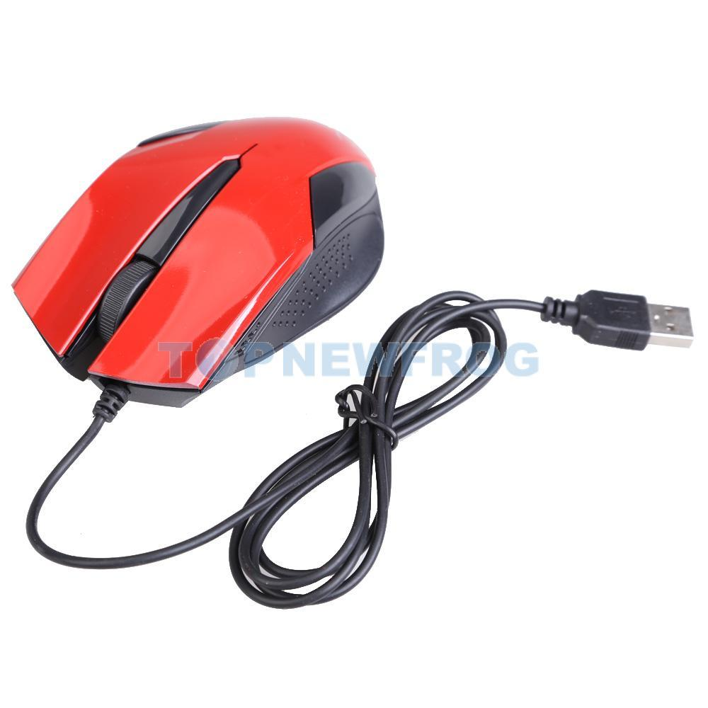 New Bright Red Optical Mouse USB Wired 1000 DPI Portable<br><br>Aliexpress
