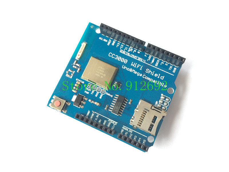 Free Shipping TI CC3000 Wifi for Arduino development expansion Wifi wireless shield support Galileo mega 2560 r3(China (Mainland))
