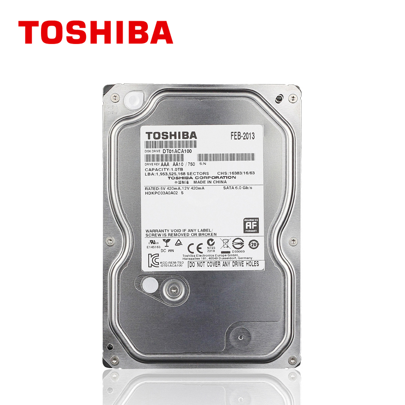 "TOSHIBA 1TB Hard Drive Disk 1000GB 1T Internal HD HDD 7200RPM 32M 3.5"" SATA 3 for Desktop PC Computer(China (Mainland))"