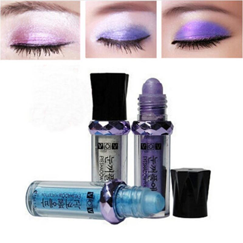 Diamond Bright Colorful Fluorescence Shine Gloss Mineral Eyeshadow Powder Pencil, Ball Eye Shadow Powder 11 Colors Free Shipping(China (Mainland))