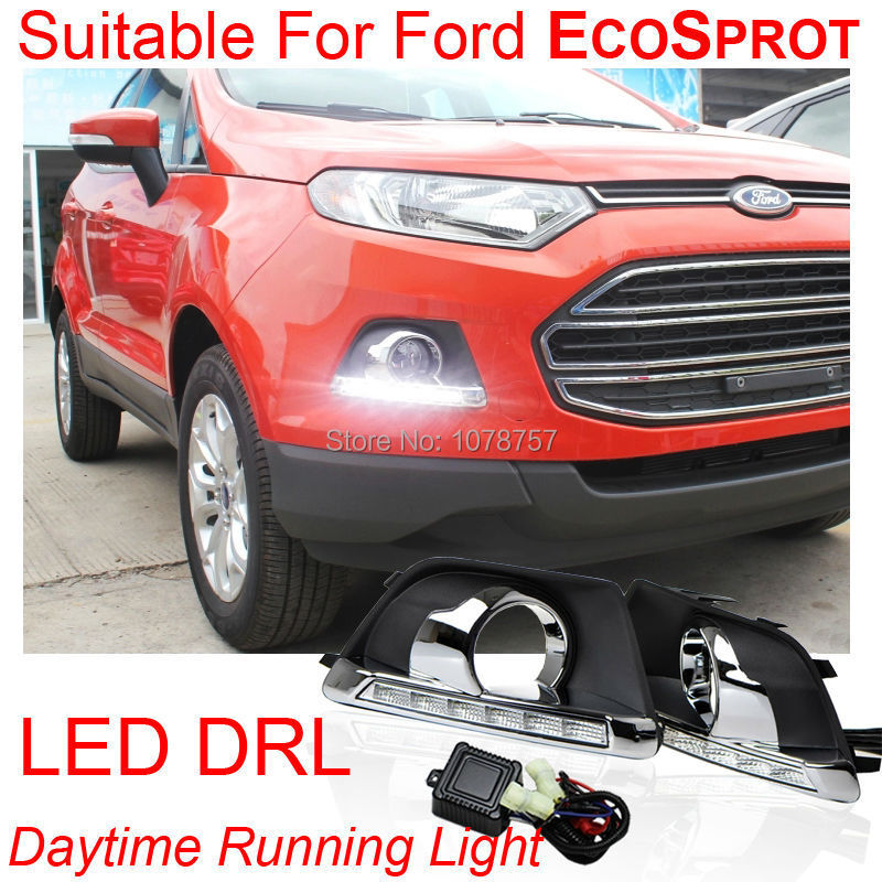 High Power Super Bright Car LED DRL Daytime Running Lights Suitable For Ford ECOSPROT 2013,Waterproof Car LED External Lights<br>