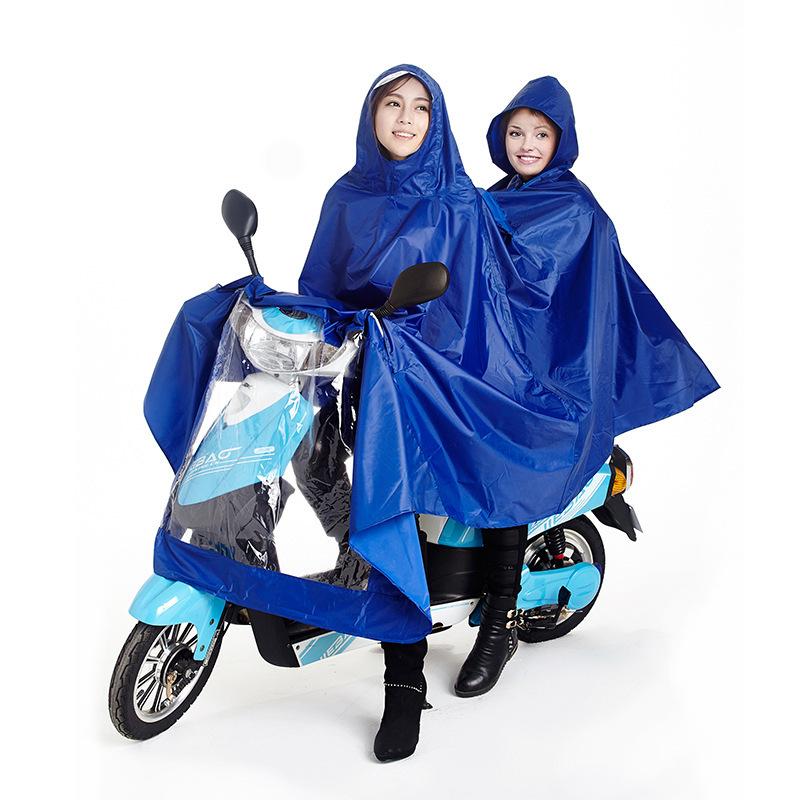 Double People Rain Coat Motorcycle Pvc Rainwear For Adults Poncho Waterproof Motorcycle Rain Clothing Motorcycle Red Rain Jacket(China (Mainland))