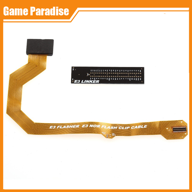 Free shipping Original New E3 flasher E3 Nor flash Clip Suit Flex Cable For PS3(China (Mainland))
