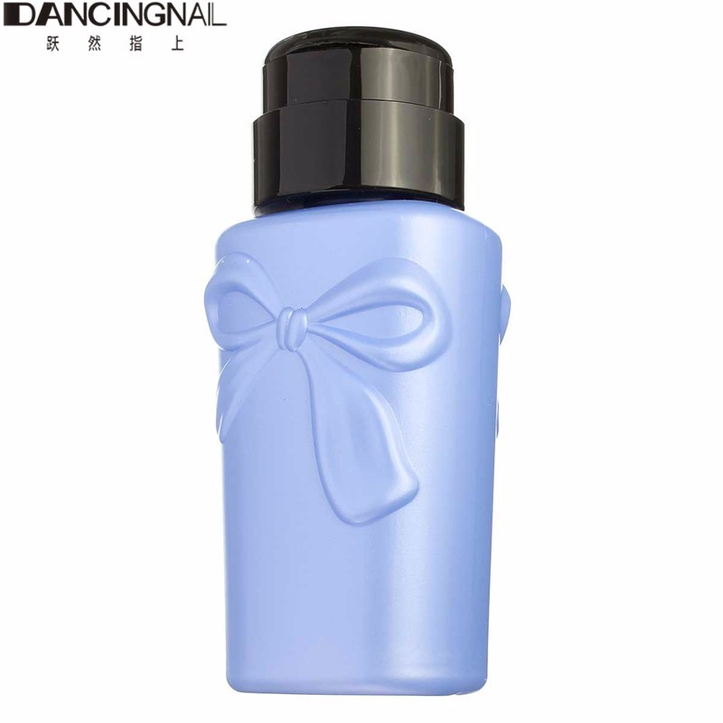 DANCINGNAIL Liquid Alcohol Press Nail Polish Remover Dispenser Cleaner Refillable Bottles Plastic Random Color(China (Mainland))