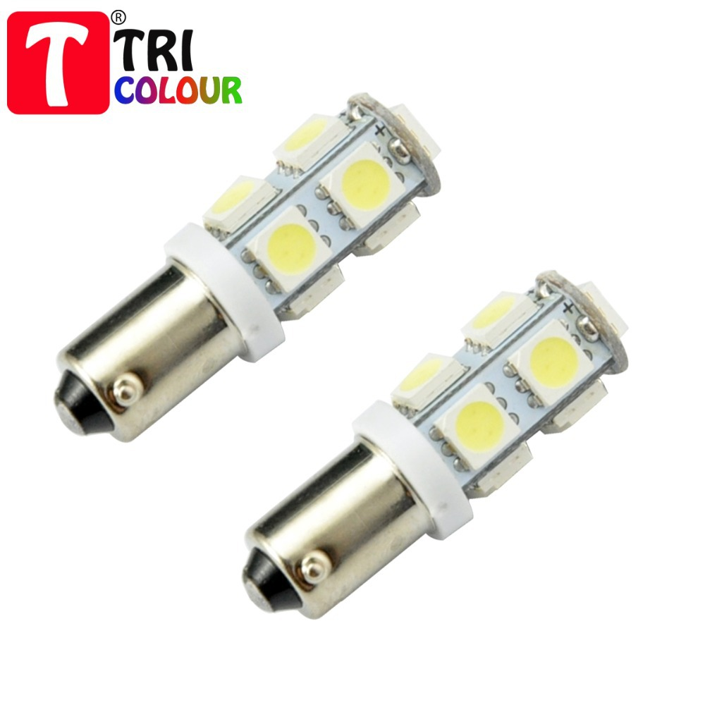 4x Car Marker Lamps T11 Ba9s T4w LED Bulb 9 LEDS Tower 5050 led 12 VDC