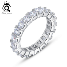 Luxury Austrian Crystal Finger Eternity Ring with AAA Cubic Zirconia,925 Sterling Silver Ring on Platinum Plated Jewelry OR31(China (Mainland))