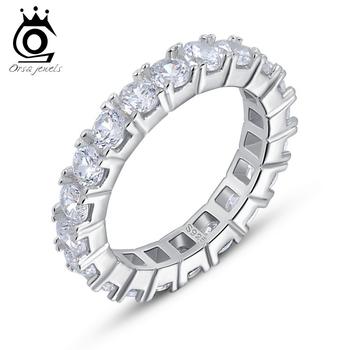 Роскошные австрийский палец вечность кольцо с ааа цирконий, 925 серебряное кольцо ...