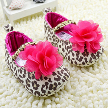 Fashion Toddler Baby Girl Leopard Flower Crib Shoes Soft Sole Floral Prewalkers(China (Mainland))