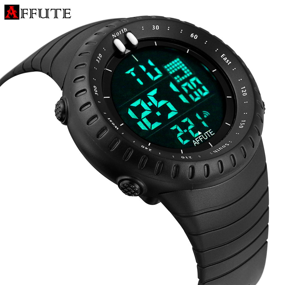 Luxury Top Brand Mens Digtial Watches Dive 50m Military Sports Led Watch Man Fashion Casual Rubber Strap Electronic Wristwatch(China (Mainland))