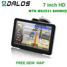 7 inch HD Car GPS Navigator 800M/ FM/4GB/128MB New Maps For Europe/USA+Canada