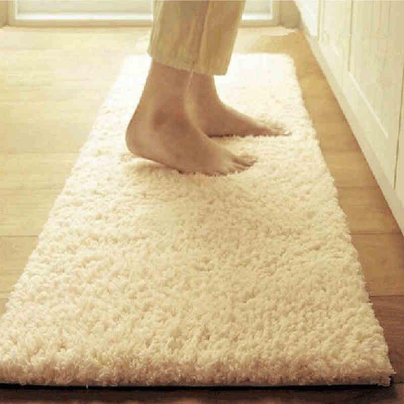 Large Size Shaggy Home Mats Living Room Decorative Carpets Bedroom Mat Obsorb