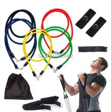11pcs/set Resistance Bands Exercise Tubes Fitness Practical Elastic Training Rope Yoga Pull Rope Pilates Workout Cordages