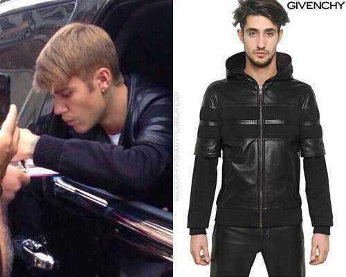 sm hjigy Justin Bieber outerwear patchwork leather hooded clothing