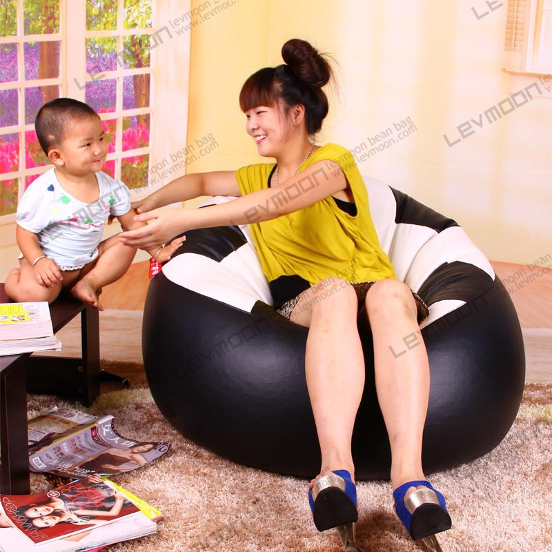 FREE SHIPPING football bean bag chairs for adults best bean bags covers 80*70*40cm beanbags PU LEATHER bean bag furniture(China (Mainland))