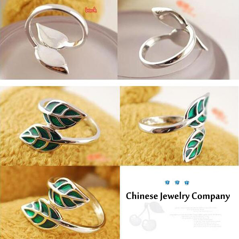 Гаджет  Min.order is $10 (mix order) Free Shipping&Factory Price Korean Personalized Fashion Ring - Green Leaf-Leaves  Ring R377 None Ювелирные изделия и часы