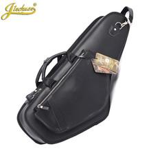 Wholesale Professhional portable durable luxury PU leather alto saxophone bags Eb sax soft case cover backpack shoulder straps(China (Mainland))