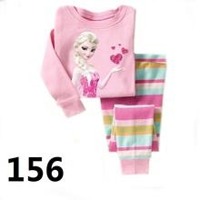 2016 Children Clothing Sets girls pajamas suits baby girl Clothing Sets sleepwear kitty princess pajamas cotton shirts+trousers(China (Mainland))