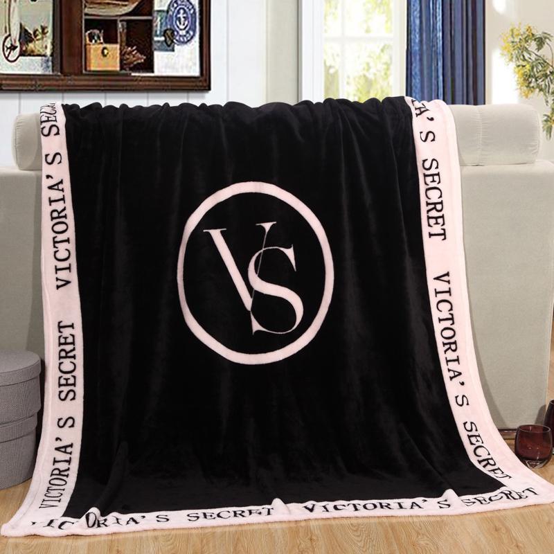 Black/Pink VS Secret Blanket Manta Fleece Bedding Throws on Sofa/Bed/Car Portable Plaids Bedspread 130x150cm TV Blanket(China (Mainland))