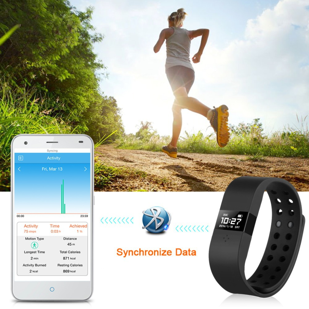 DiGiCare Waterproof Smart Bracelet Bluetooth 4.0 Pedometer Tracking Calorie Health Wristband Sleep Monitor For Android IOS Phone(China (Mainland))