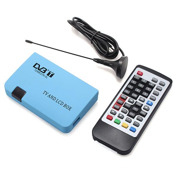 EU plug Hot Sale Convenient Brand New Top Quality Digital TV Box LCD/CRT VGA/AV Tuner DVB-T Free View Receiver Converter(China (Mainland))