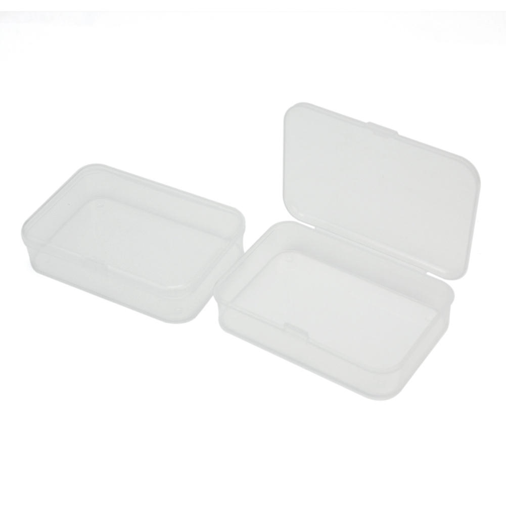 2pcs Durable Hard Plastic Transparent Clear Storage Box Collection Container Case Organizer with Lid(China (Mainland))
