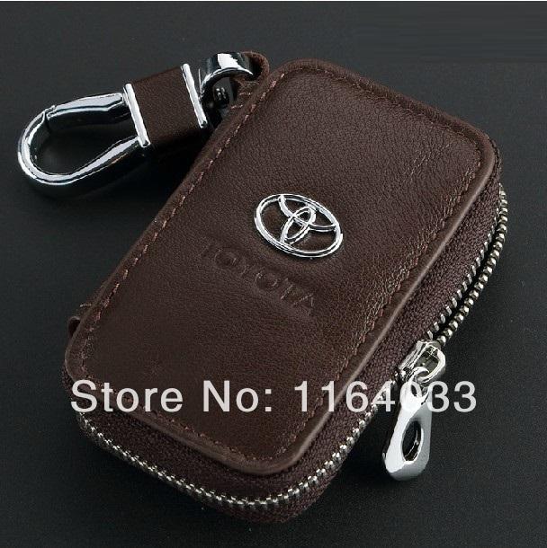 Натуральная кожа пульт дистанционного управления сумка Toyota RAV4 венчик Camry Reiz марк X Prado горец ключ с короной ключница чехол