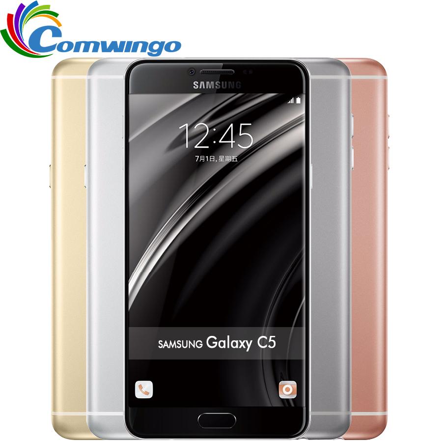 New Original Samsung Galaxy C5 Mobile Phone 5.2 inch Octa-Core 4GB RAM 32GB/64GB ROM LTE 16MP Android 2600mAh Dual SIM Phone(China (Mainland))