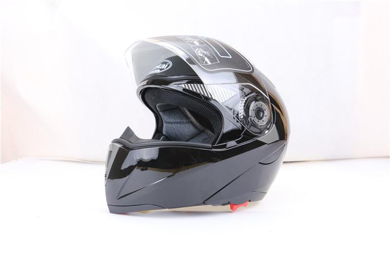 Купить Профессиональный Двойной Стекло Мотоциклетный Шлем Jiekai Флип мотоцикл Шлем 22 опции доступны с внутреннего черного солнцезащитной