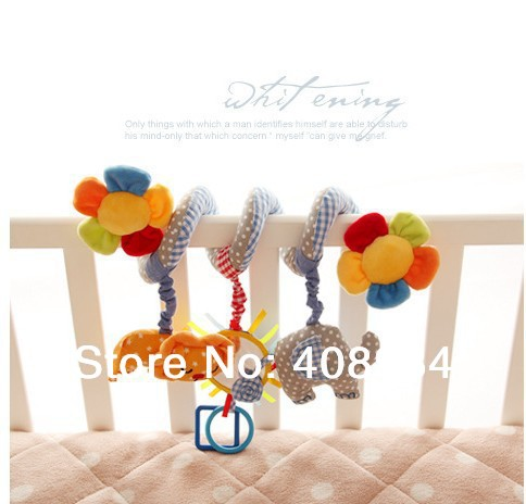 Baby Rattle Ring Bell Soft Plush Crib Bed Hanging Animal Toy Teether Cute Doll Newborn Cot Stroller Infant Toys - honestycentre store